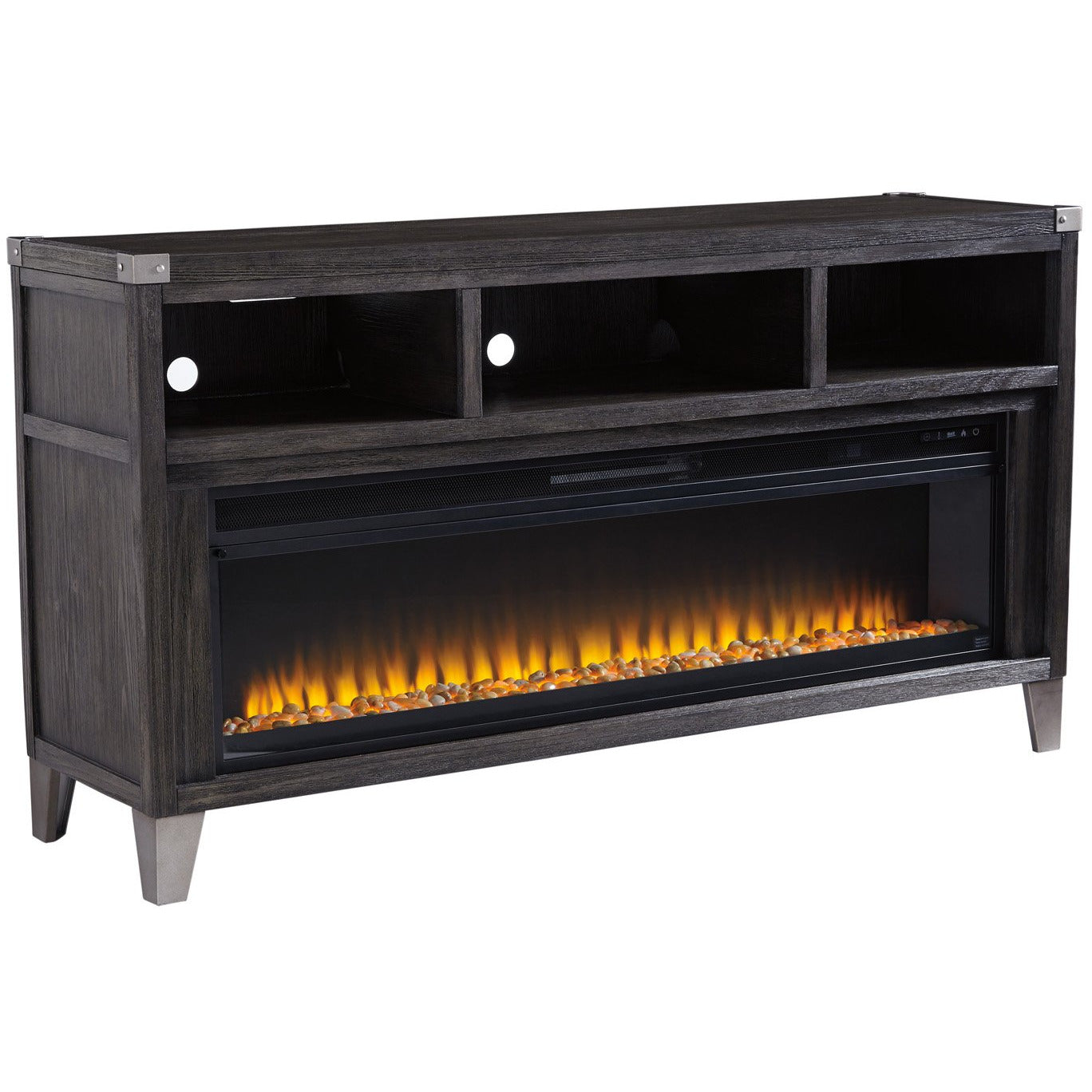 Todoe TV Stand with Fireplace