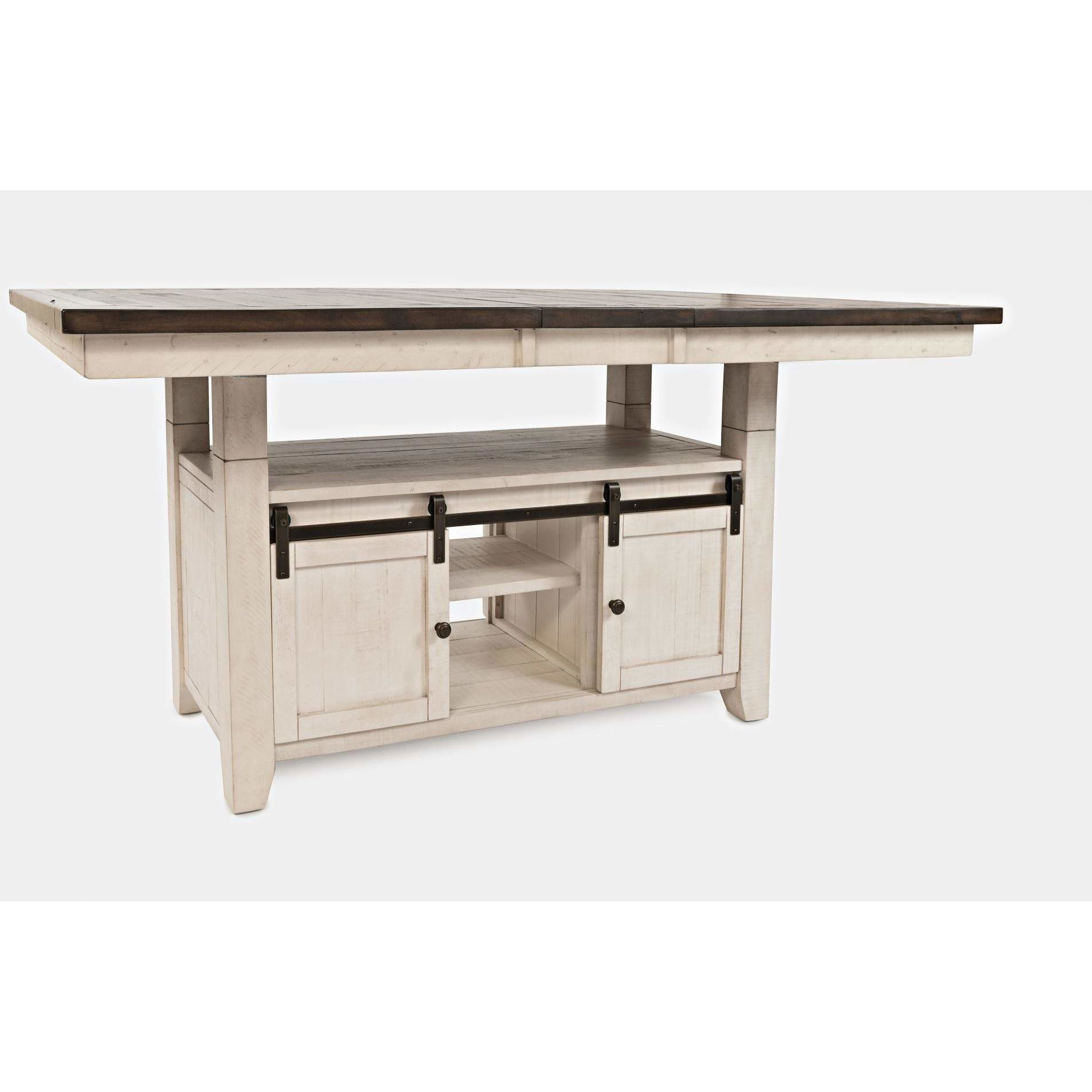 Madison County High-Low Table - White