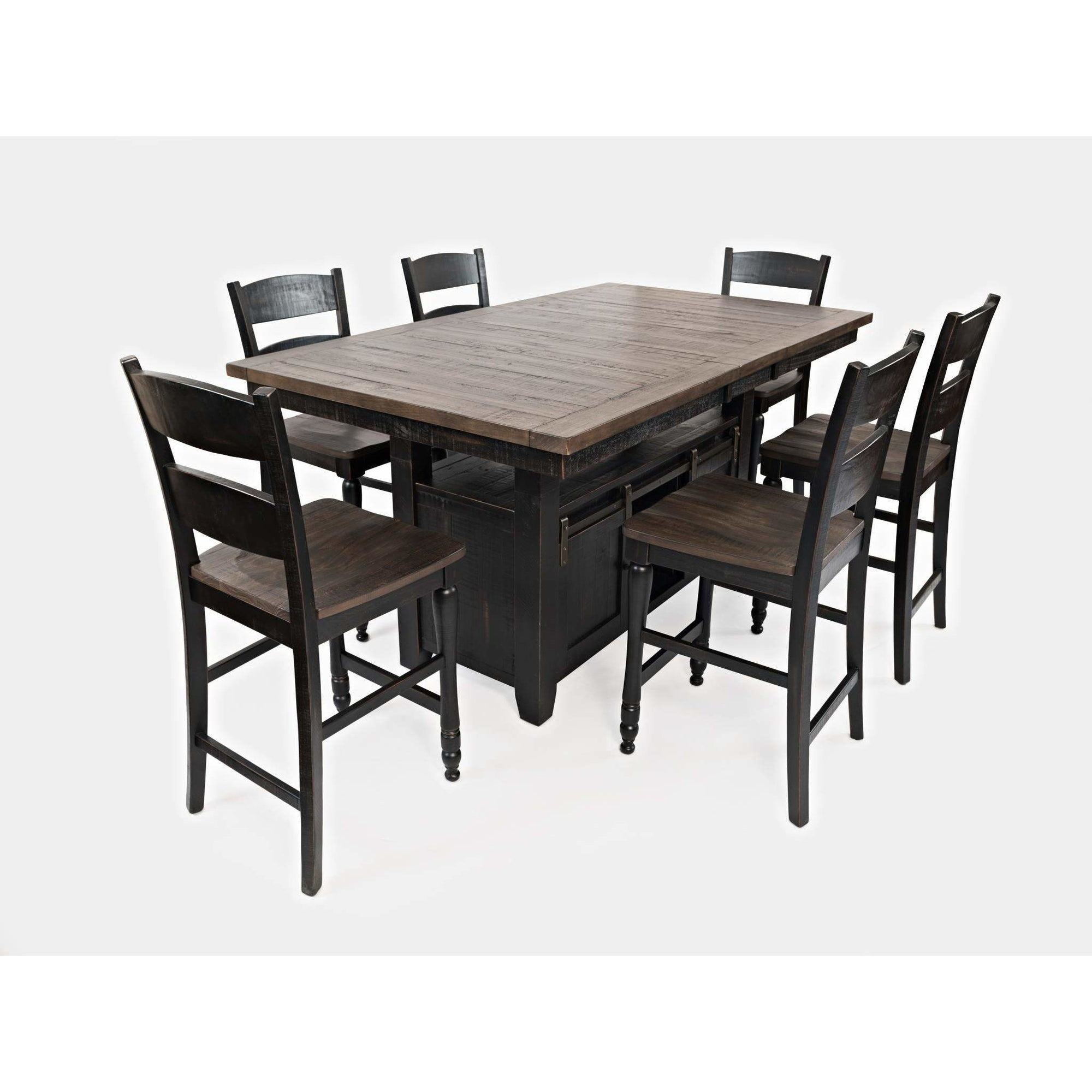 Madison County Counter Dining Set - Black