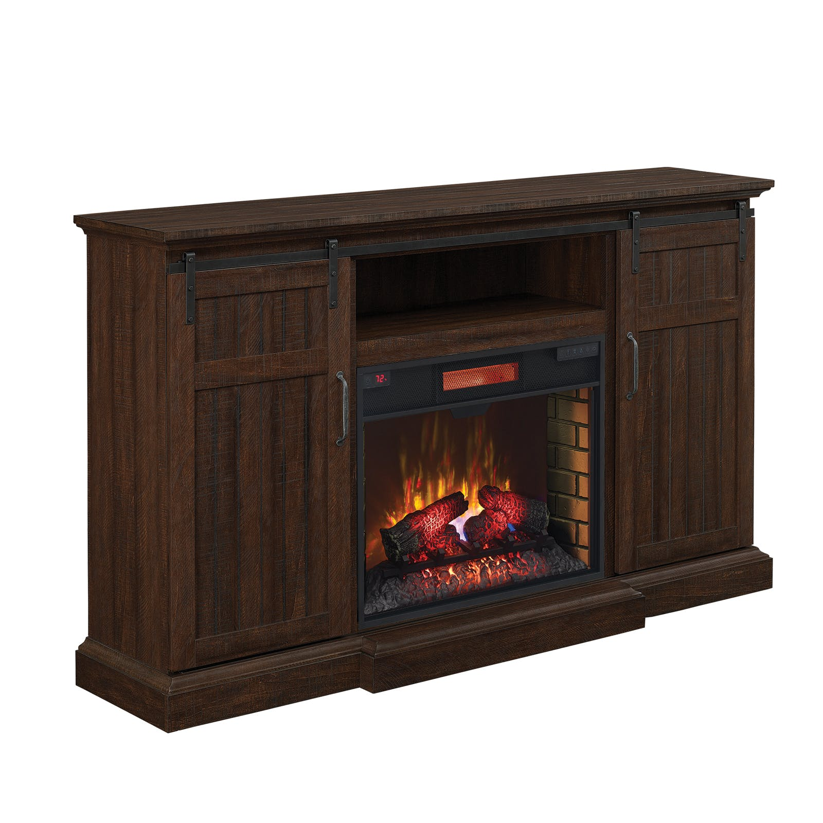 Manning TV Stand with Fireplace Insert