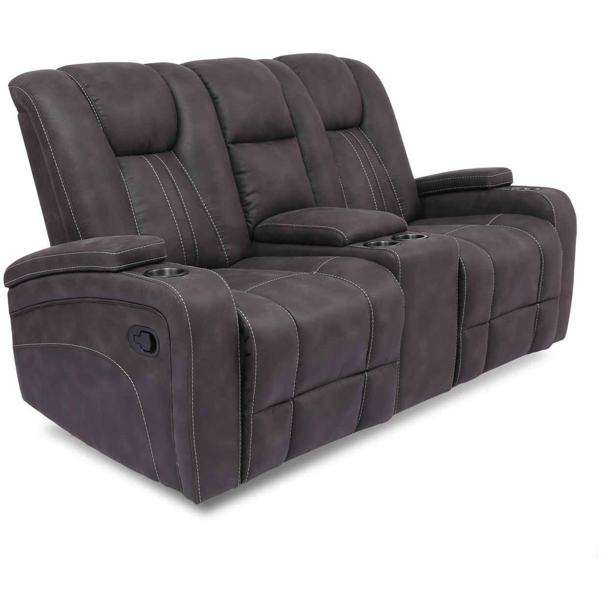 Cowboy Reclining Loveseat with Console