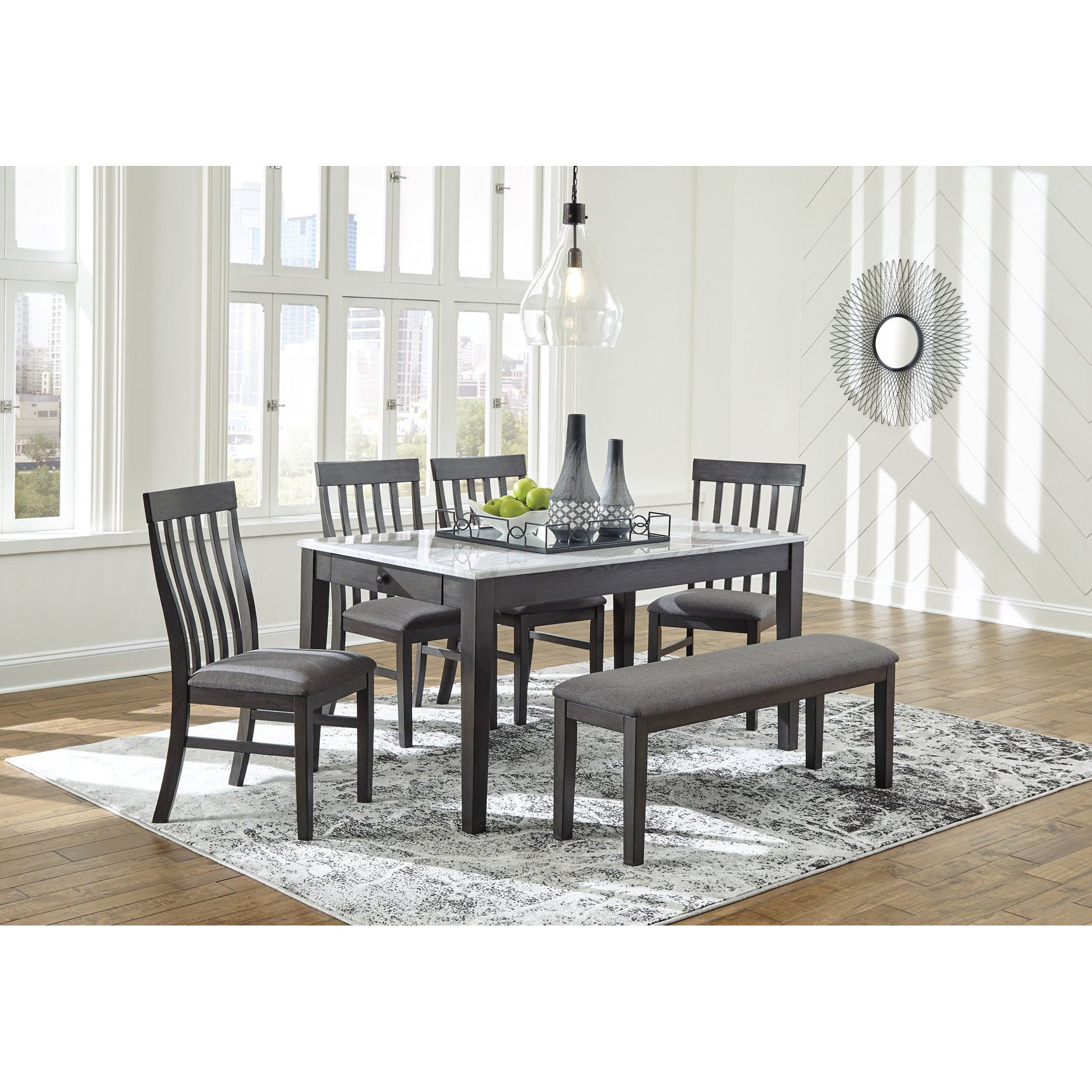 Luvoni Dining Set with Bench