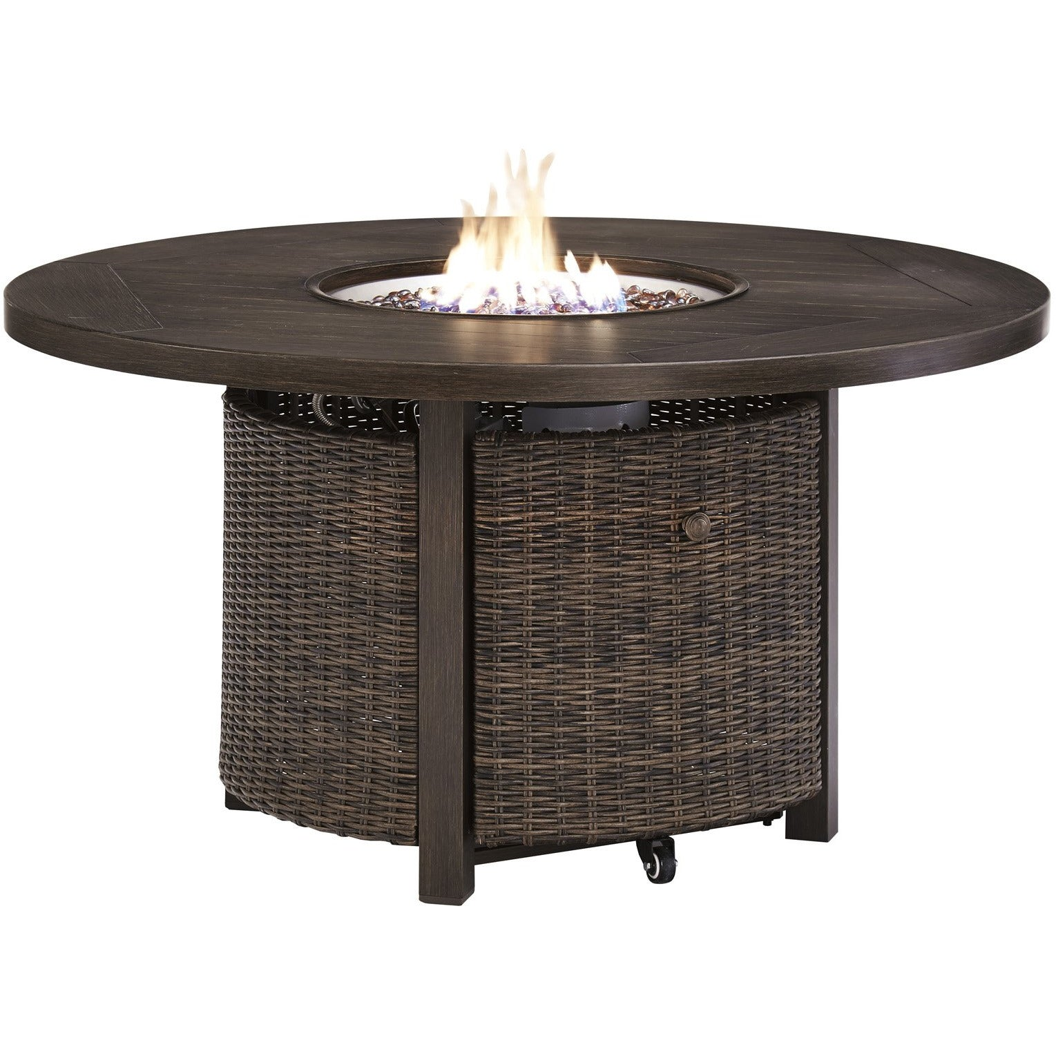 Paradise Trail Round Fire Pit Table