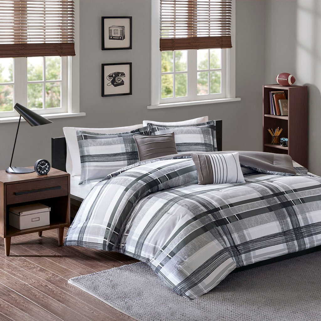 Rudy Plaid Comforter Set