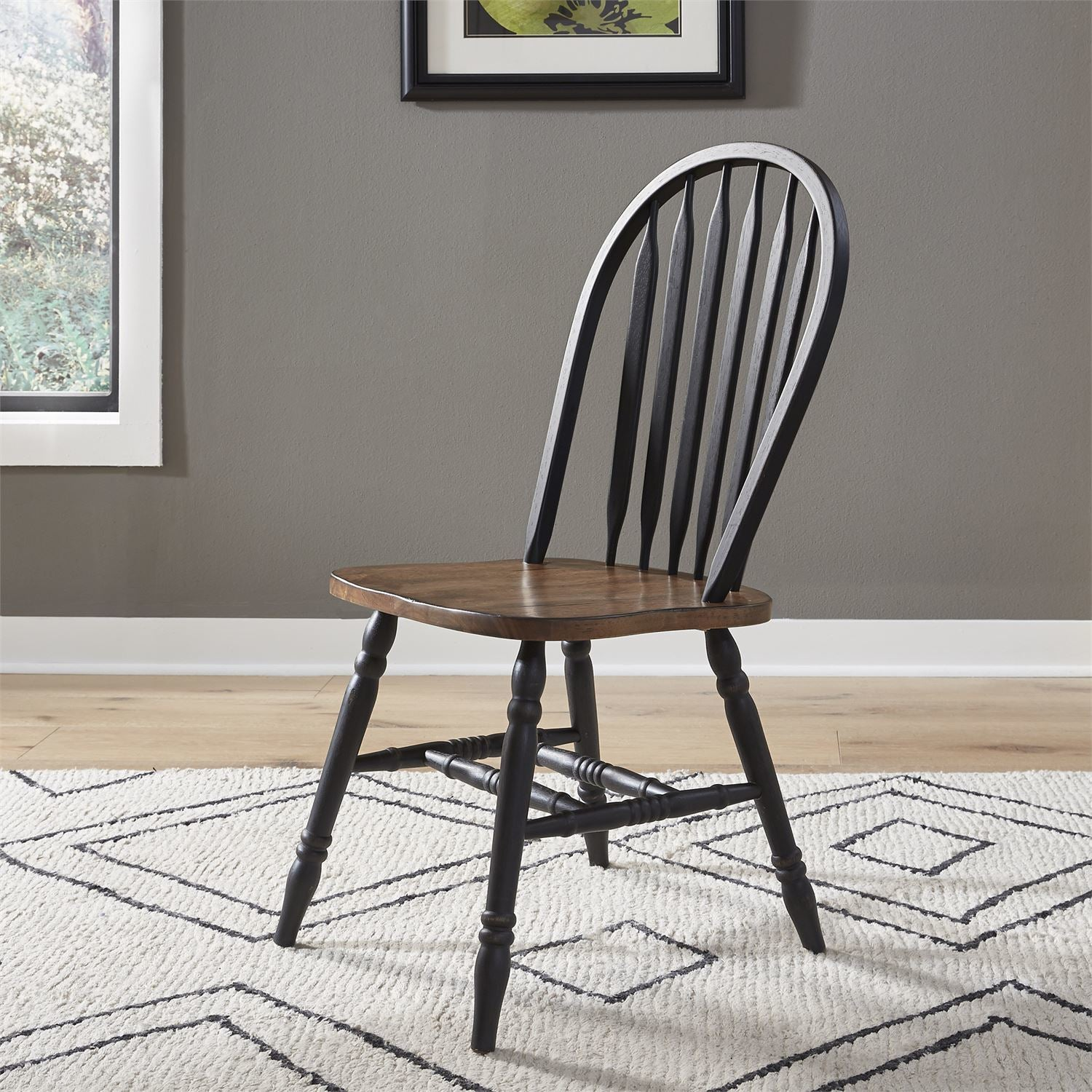 Carolina Crossing Black Windsor Side Chair
