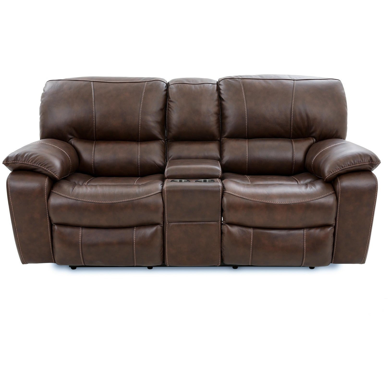 Dylan Leather Power Loveseat with Console
