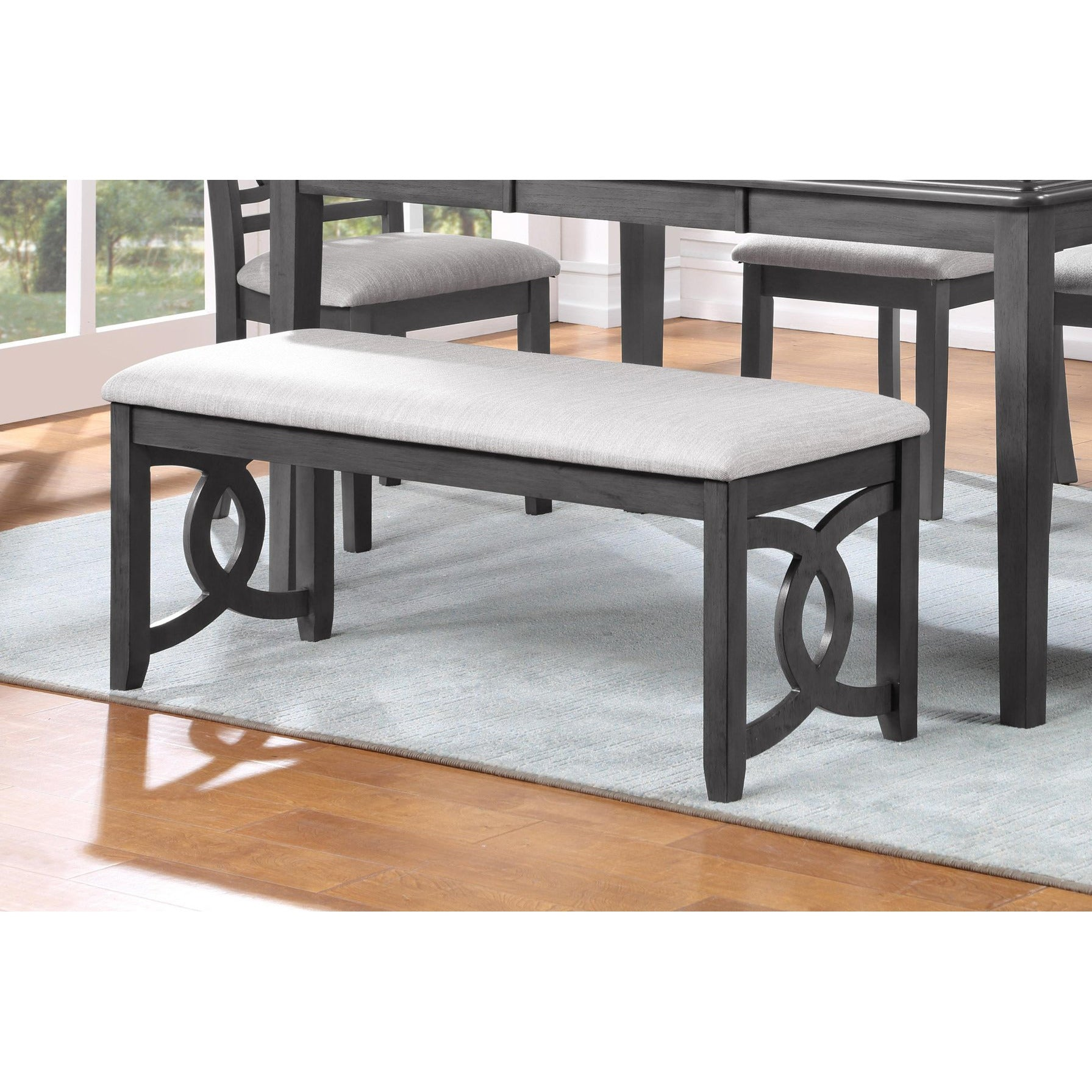 Gia Links Grey Dining Bench