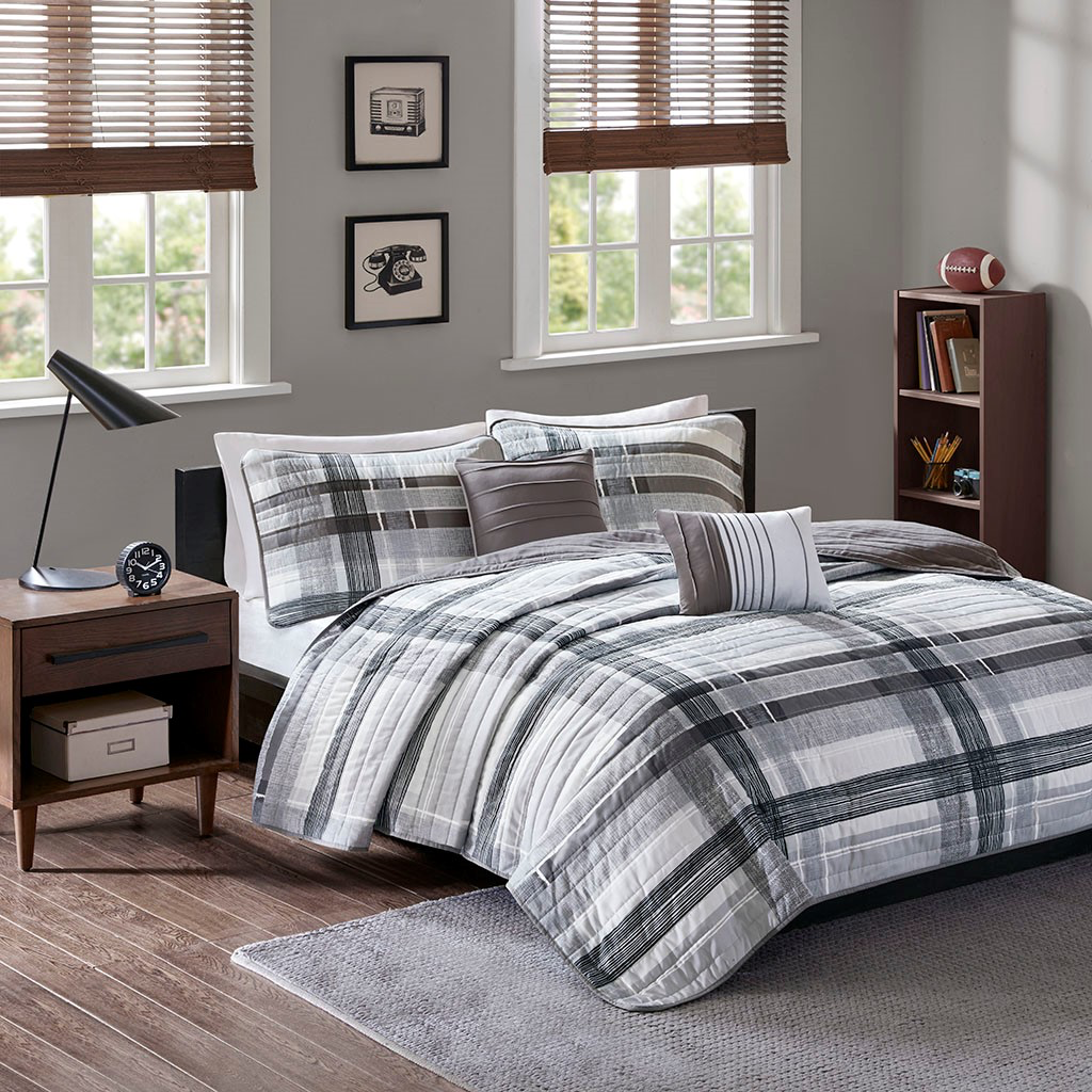 Rudy Plaid Coverlet Set