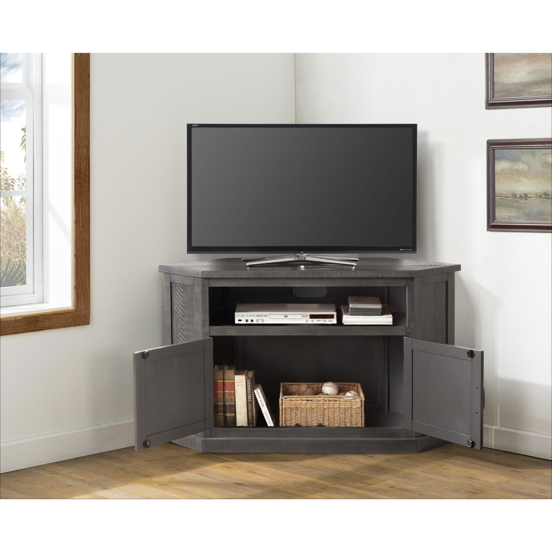 Sierra Grey Corner TV Console