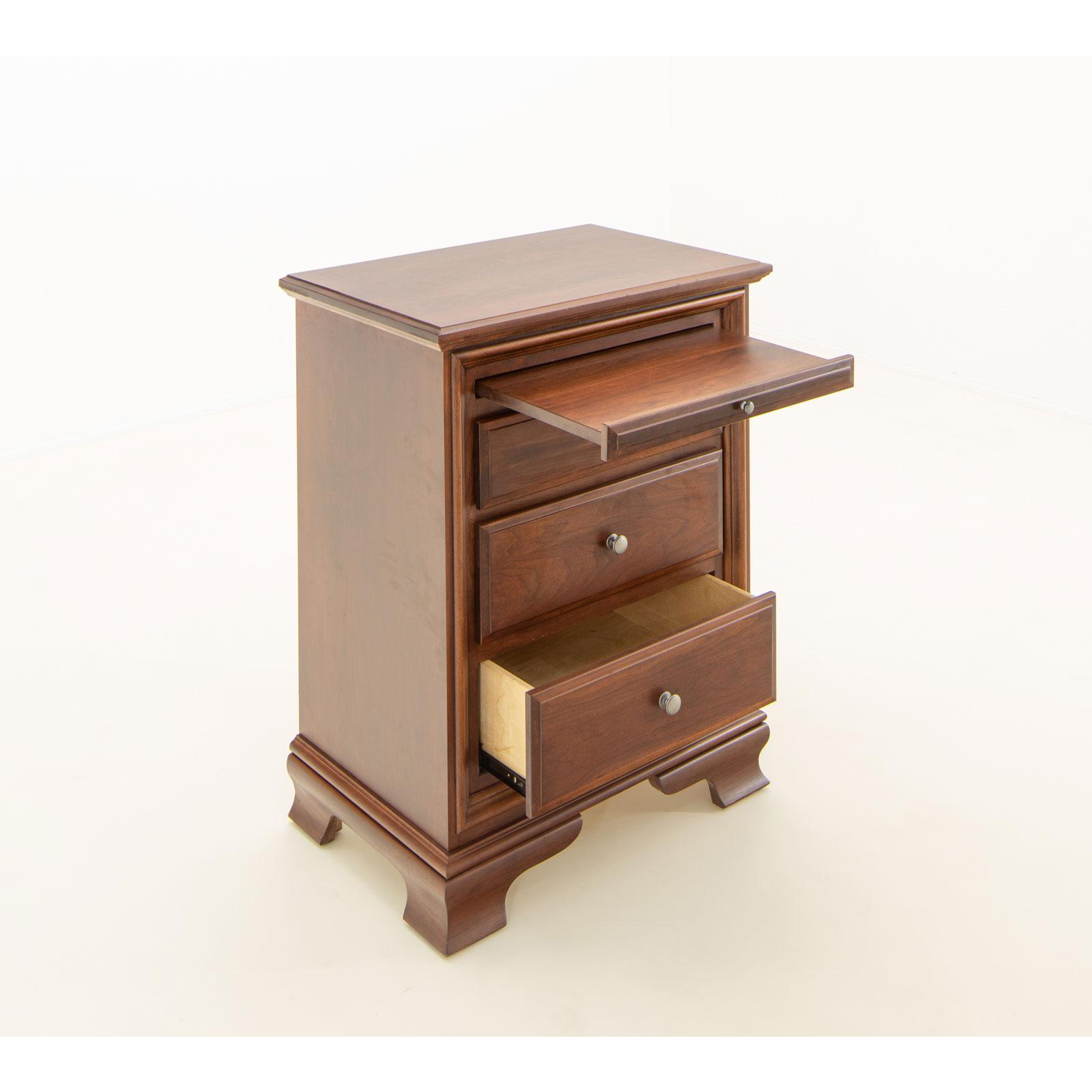 Amish Classic Nightstand with Pullout Shelf