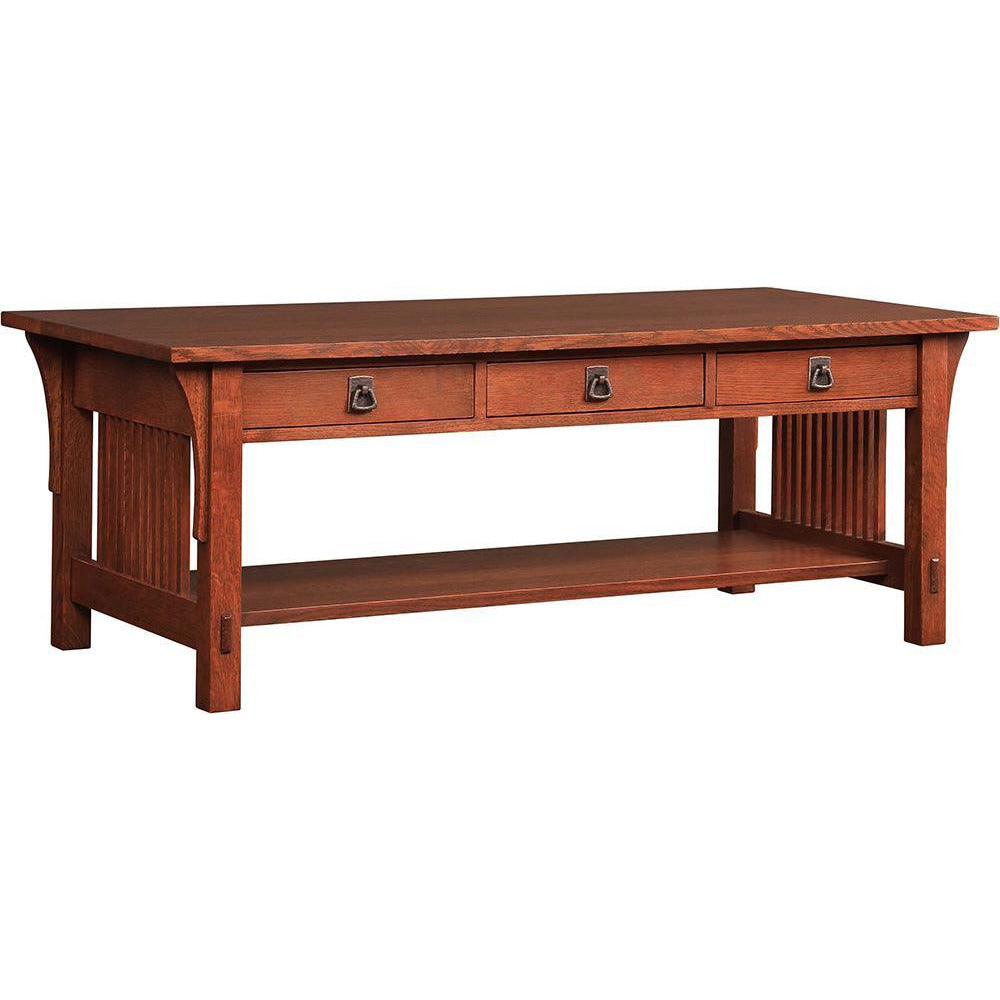 Mission 3 Drawer Cocktail Table