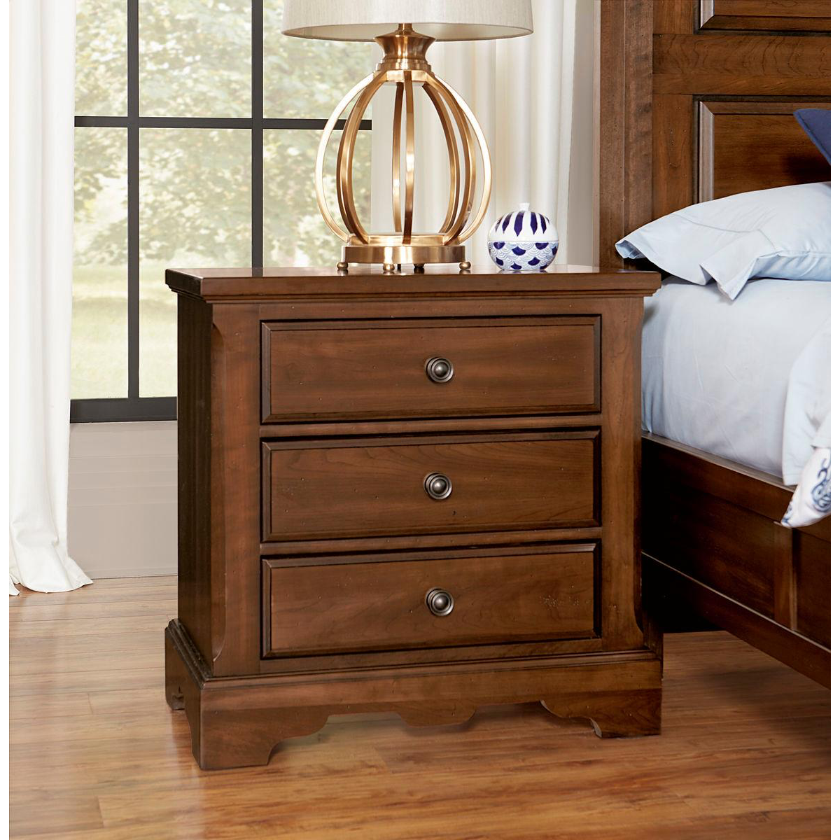 Heritage Three Drawer Nightstand