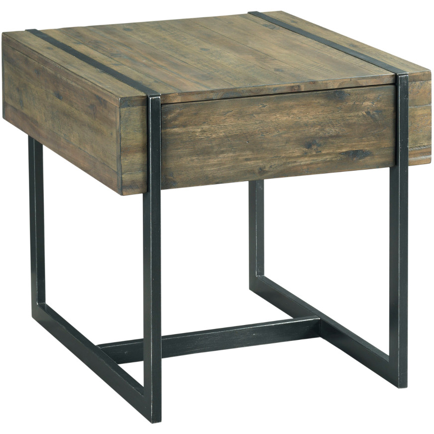 Modern Timber Drawer End Table