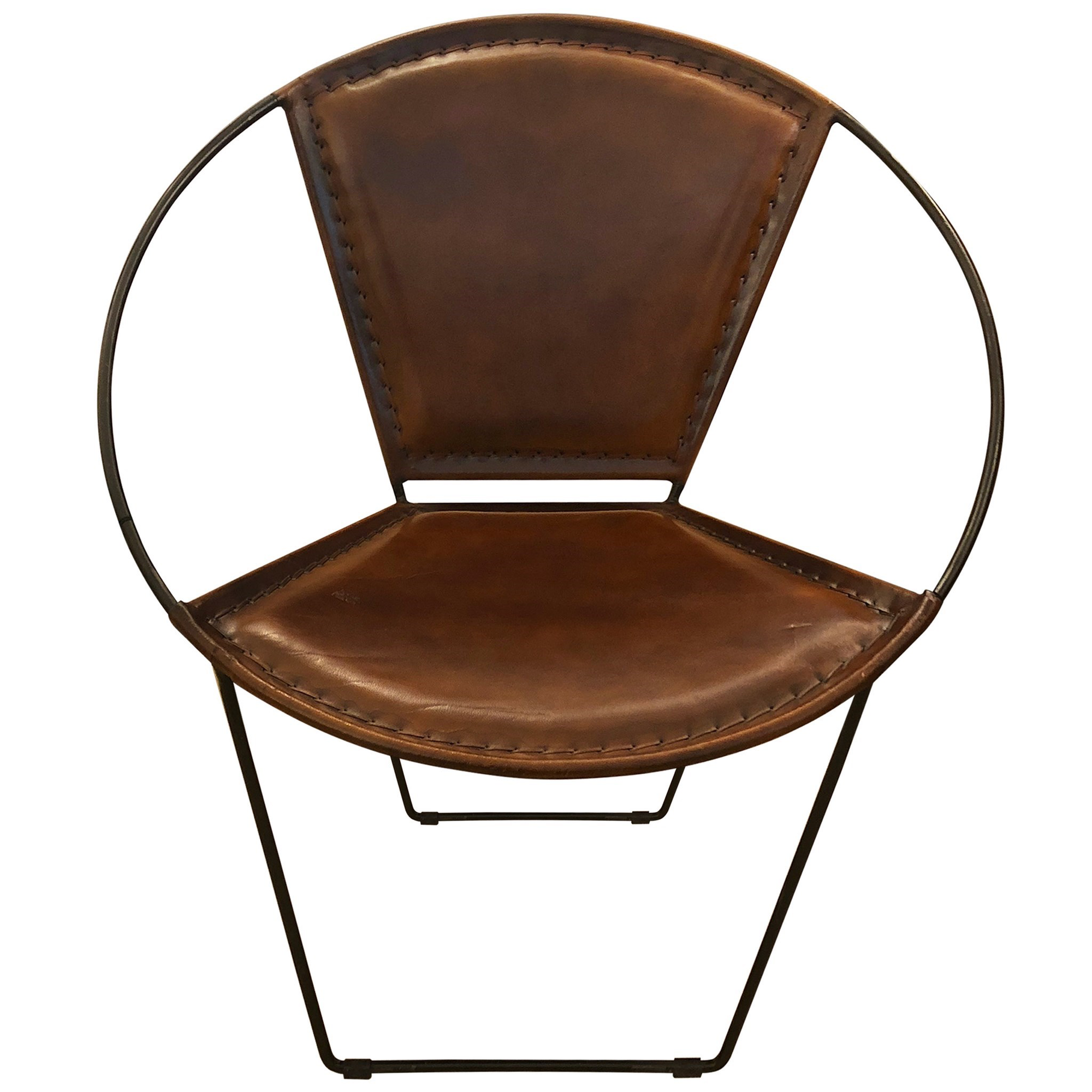 Leather Hoop Armchair