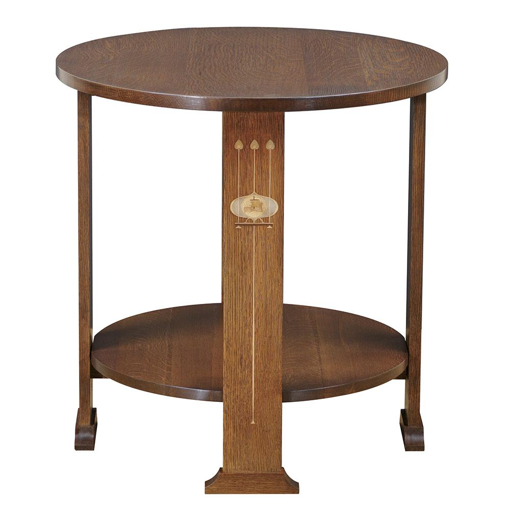 Harvey Ellis Round Lamp Table