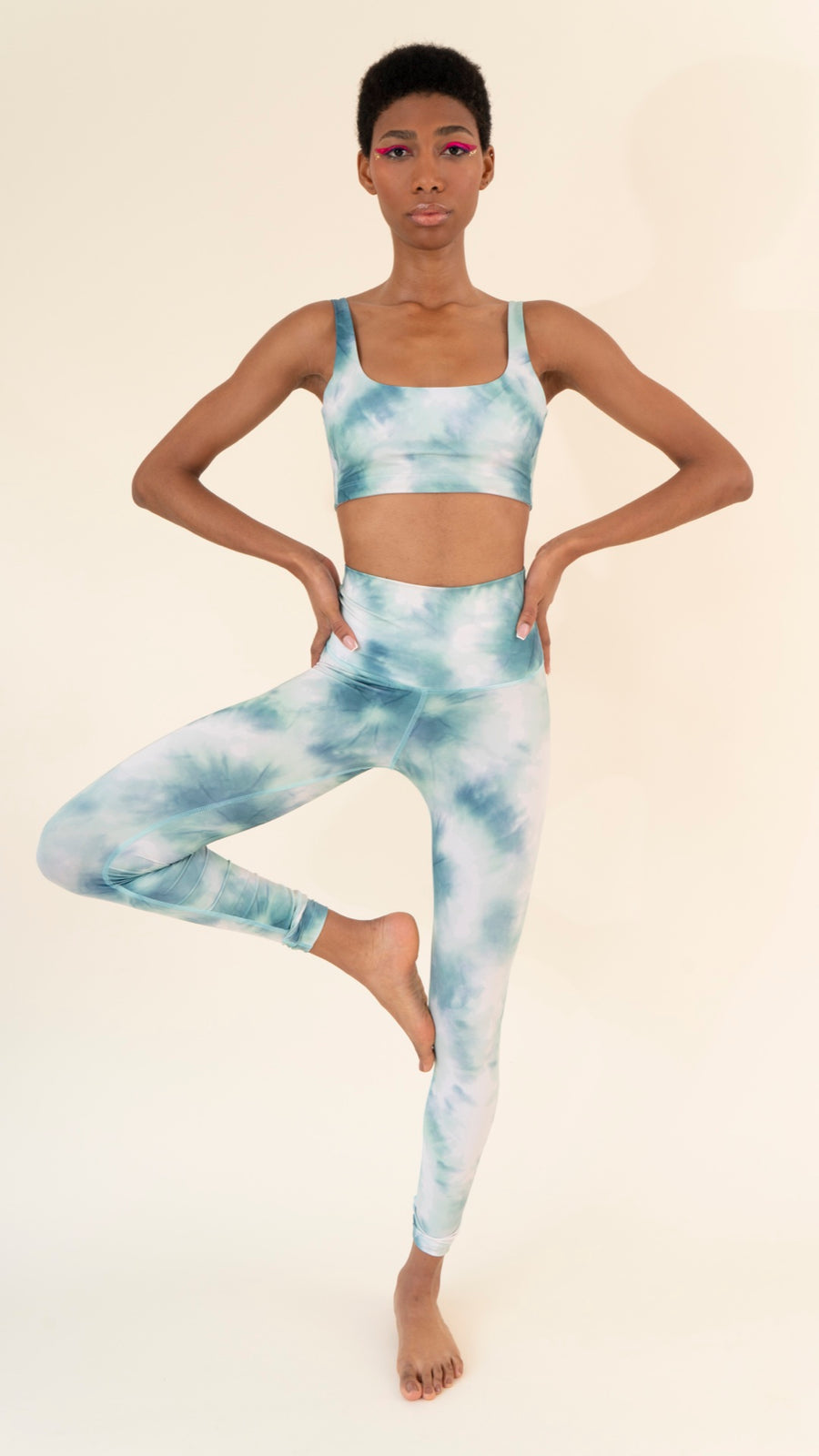 Leggings Green Tie Dye