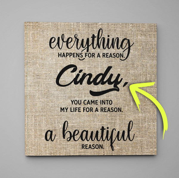 A Beautiful Reason - Custom Premium Canvas Wrap - CW11