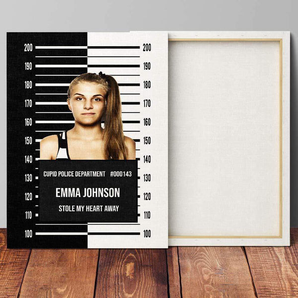CRIMILOVE - Personalized Mugshot Canvas Wall Art