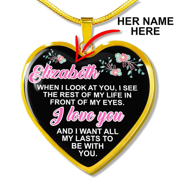 Custom Name - Heart Necklace - CustomSO-04