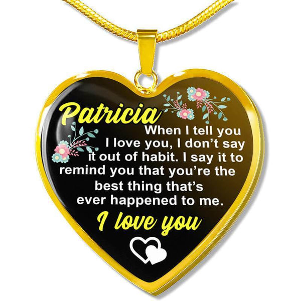 Custom Name - Heart Necklace - CustomSO-09