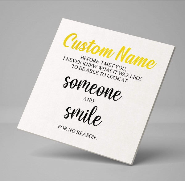 Custom Name - Romantic Canvas Wrap - CW03