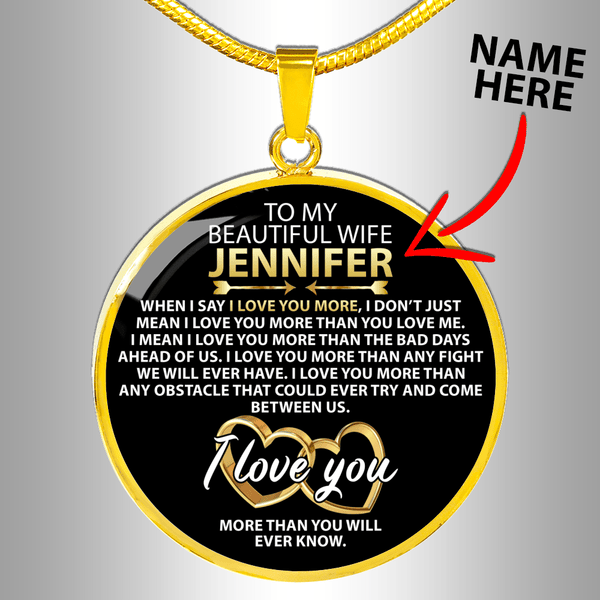 Custom Name - Wife Love Necklace - CustomSO-12