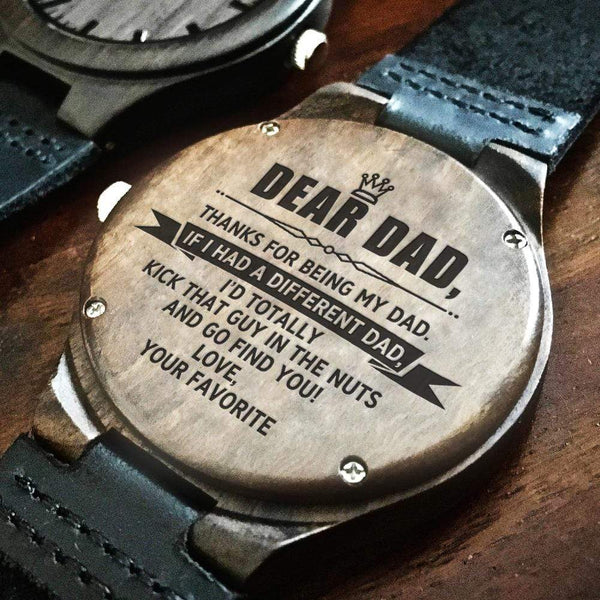 Dear Dad - Wood Watch - WH-DF20B285