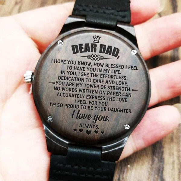 Dear Dad - Wood Watch - WH-DF20B297