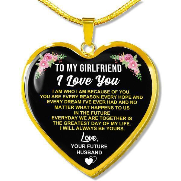 Girlfriend - 18k Gold Heart Necklace FBHD04