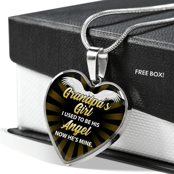 Grandpa's Girl - Heart Necklace - FBHD20