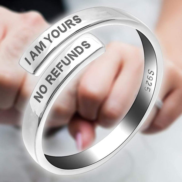 I Am Yours - Love Binding Name Ring (Unisex)