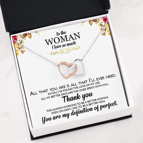 I Love You So Much - Interlocking Hearts Necklace - SO124