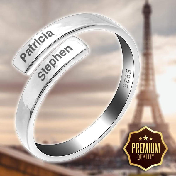 Love Binding Name Ring (Unisex)