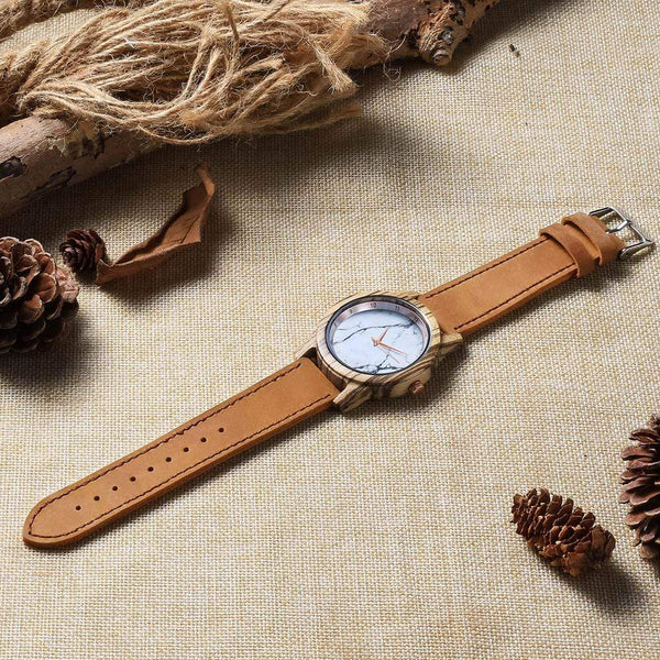 My Better Half - Rose Gold Zebrawood Watch - WH-DF25-23