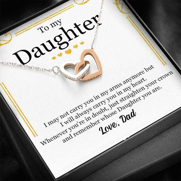 My Daughter - Love Dad - Interlocking Hearts - SO465
