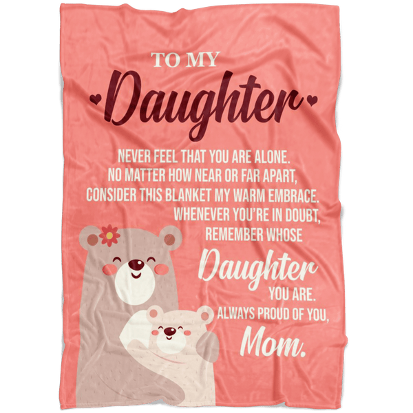 My Daughter - Love Mom - Premium Fleece Blanket - TLBL15