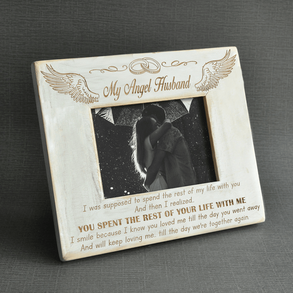 My Husband is My Angel - Engraved Wood Frame - WHPT017-01