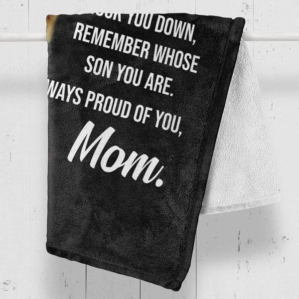 My Son - Love Mom - Premium Fleece Blanket - TLBL23