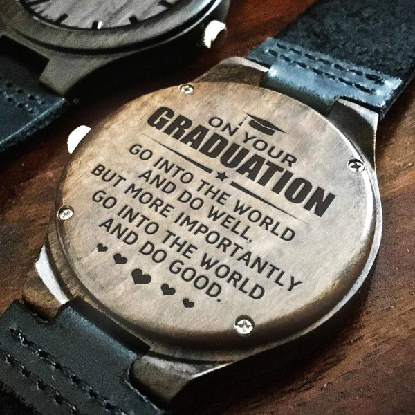On Your Graduation - Wood Watch - WH-DF20B301