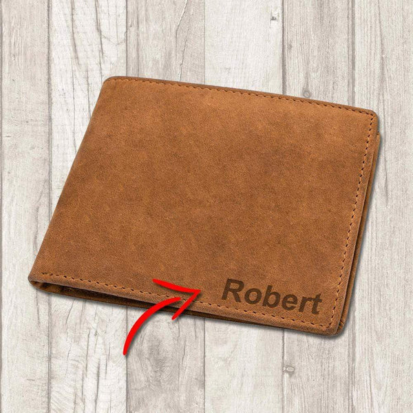 Personalized Name - Bi-fold Leather Wallet - WHWT01-CN *PERFECT-GIFT