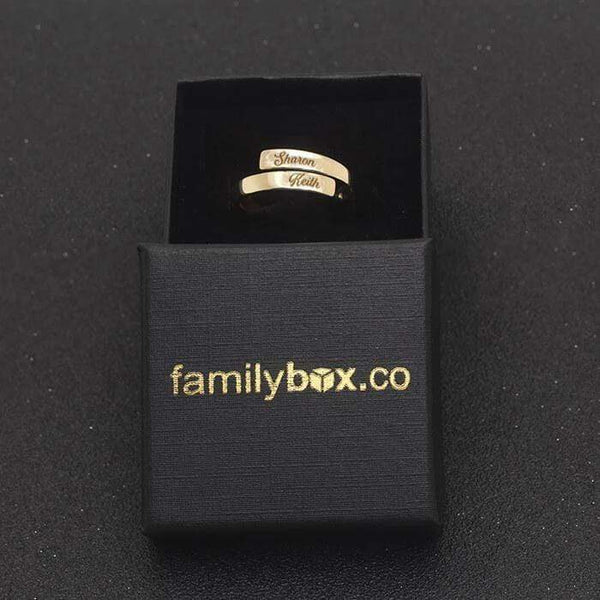 Personalized Name Calligraphy - Love Binding Ring (Unisex)