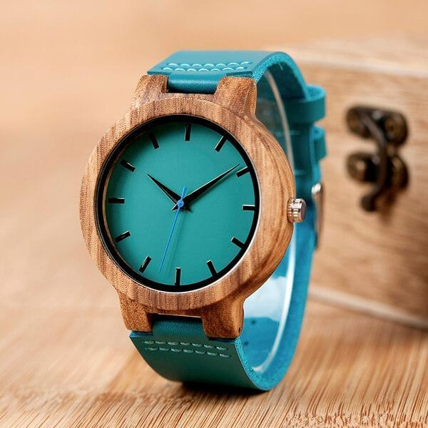 Special Day - Custom-Engraved Calendar Wood Watch