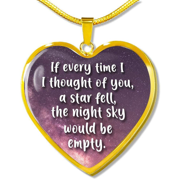 Thinking of You - Heart Necklace - FBHD24