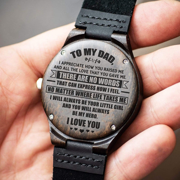 To Dad - From Daughter - Wood Watch - WH-DF20B146