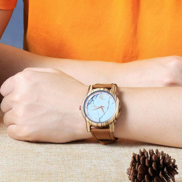 To Daughter - From Dad - Vanilla Rose Wood Watch - WH-DF25-15