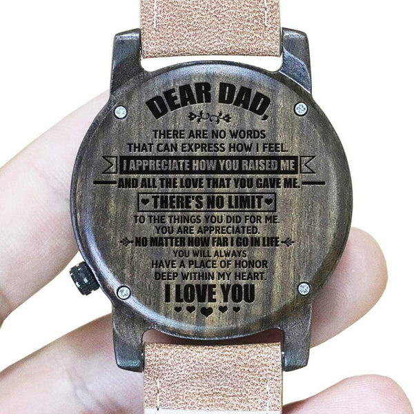 To My Dad - Ebony Wood Watch - WH-DF23-10