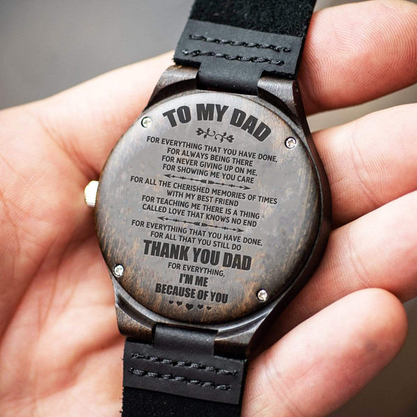 To My Dad - Engraved Wood Watch - WH-DF20B158