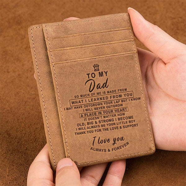 To My Dad - Slim Leather Wallet - WHWT02-04