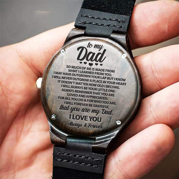 To My Dad - Wood Watch - WH-DF20B219