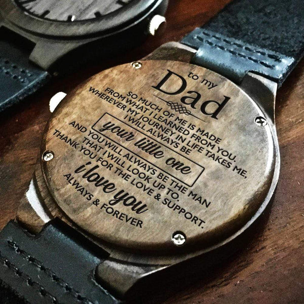 To My Dad - Wood Watch - WH-DF20B251